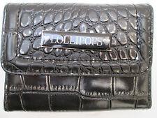 -AUTHENTIQUE portefeuille/porte-monnaie LOLLIPOPS    cuir & toile  TBEG vintage