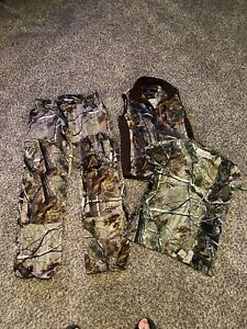 Womens ladies camo hunting vest-shirt-pants size small/medium excellent