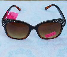 Betsey Johnson BJ873196 TORT Tortoise Shell  Jeweled Frame Women Sunglasses NEW!