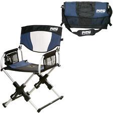 GCI Outdoor Sport Pico Folding Arm Chair Navy Blue Compact Portable Durable