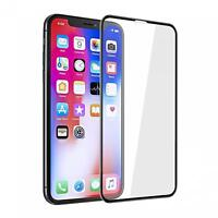 For iPHONE XS MAX - TEMPERED GLASS SCREEN PROTECTOR 5D CURVED EDGE FULL COVER HD