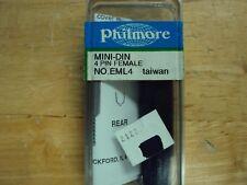 Philmore Eml4 1Pc 4 Pin mini din plug female connector nos