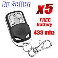 5x Universal Key Fob Remote Control Gate Garage Door Roller Shutter 433mhz