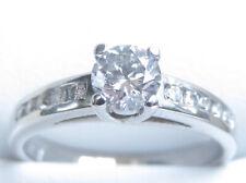 Valuation$6290 Genuine 0.65ct Diamond Ring 18K White Gold