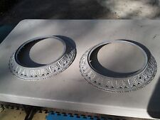 """6EE20 PAIR OF CAST ALUMINUM DECORATIVE FRAMES: 16"""" OD, 12"""" ID, 1-1/2"""" THICK"""