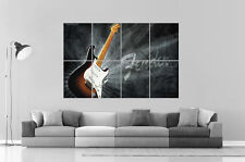Fender Stratocaster Guitare Electrique Art Poster Grand format A0 Large Print