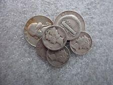 $1.00 Face Value 5 Mercury Dimes 2 Washington Quarters