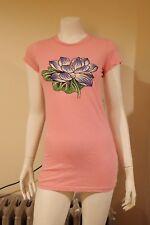 NWT Ed Hardy Tunic Lotus Basic S/S Pink Cotton Long M T-Shirt Dress FREE GIFT