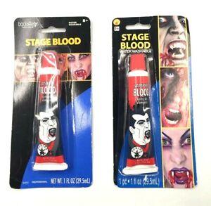 Fake Blood Halloween Vampire Zombie Face Rubies Makeup Dress Theatrical Fun NiP