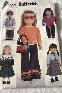 """*Uncut* Butterick 6855 Pattern - Doll Clothes - 18"""" (46cm) Dolls"""