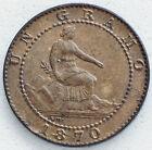 1 CENTIMO 1870 GOBIERNO PROVISIONAL / SIN CIRCULAR / COLOR ORIGINAL Y PÁTINA