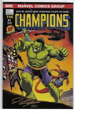 Champions #1 DYNAMIC FORCES VARIANT signed John Cassaday NM DF