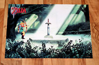 1992 Nintendo The Legend of Zelda A Link to the Past Rare Small Poster 42x30cm..