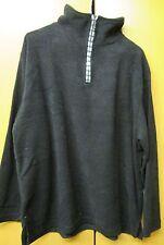 Ladies black fleece jumper with zip, Large