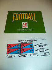NES PLAY ACTION FOOTBALL Nintendo NES Instruction Manual & Play Card Only