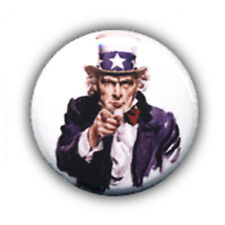 Badge I WANT YOU Oncle Uncle Sam Usa vintage militaire army punk buttons Ø25mm