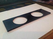 Carbon fiber Effect Single Din double Gauge Mount 4mm Thick Cnc Cut