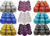 12Pk Large 8cm GOLD Glitter Covered Baubles Balls Xmas Tree Ornaments Home Decor