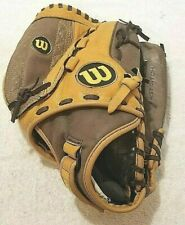 "Wilson A440 Softball Fast Pitch RH Thrower Glove Mitt 12"" Genuine Leather"