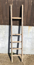 More details for small vintage 6 rung wooden ladder 150cm