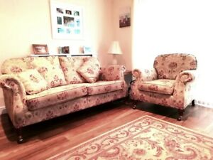 Parker Knoll Large 2/3 Seater Westbury Sofa and Chair Good Condition