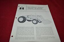 International Harvester 2000 Industrial Tractor Loader Dealer's Brochure DCPA7