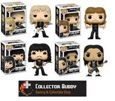 Funko Pop All Four Music Rocks 57-60 Metallica James Lars Kirt Robert Pop Vinyl