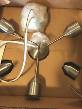 pottery barn kids Satellite pendant Nickel Hardwired 9 exposed bulbs