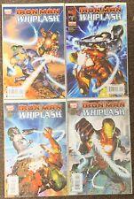 Iron Man Vs Whiplash #1,2,3,4 Marvel Limited Series Guggenheim Complete Set Lot