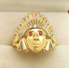 Men's 10K Tri Color Gold Chief Ring