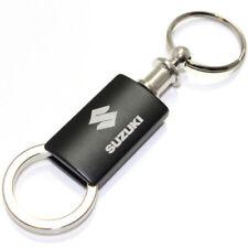 Suzuki Black Logo Metal Aluminum Valet Pull Apart Key Chain Ring Fob