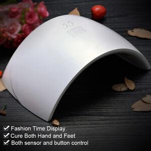 24W LED Nail Dryer UV Lamp Gel Nail Polish Fast Curing Light Timer Sensor Salon