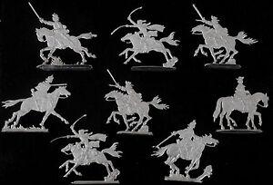 Kaiserliche Kavallerie 16. + 17. Jhd. Dragoner - 8 Fohler Zinnfiguren 30mm blank