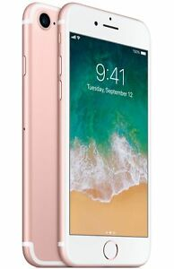 Apple iPhone 7 - 128GB - Rose Gold (Factory GSM Unlocked; AT&T / T-Mobile)
