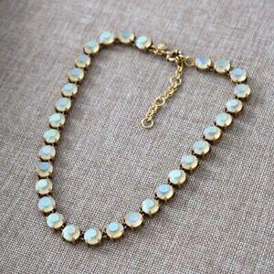 J Crew Swarovski Crystal Dot Necklace - Mint - Rare