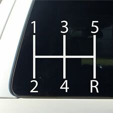 Stick Shift Manual Standard Car Decal 5 Speed Transmission Vinyl Window awesome
