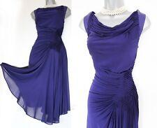 Karen Millen Purple Jersey Fit & Flare Tea Cocktail Race Prom Dress UK14  EU 42