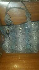 Tahari Snakeskin Hobo Handbag