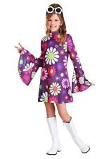Child Kids Girls Far Out Hippie 60's Dress Costume SIZE M (Used)