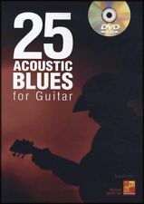 25 Acoustic Blues for Guitar TAB Music Book & DVD Learn to Play Tutor Lessons
