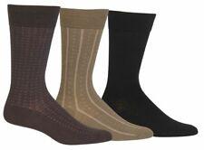 $49 Polo Ralph Lauren Men`s 3-Pair Pack Black Brown Crew Dress Socks Shoe 6-12