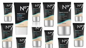 No7 HydraLuminous Moisturising Foundation 30ml. Available In 11 Shades NEW SEAL