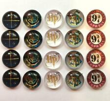 BB 12MM GLASS CABOCHONS - HARRY POTTER 5 pairs / 10 dome flatbacks characters