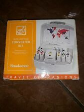 Brookstone Dual Wattage Converter Kit Travel Voltage Adapter Plugs 1800 Watt B14
