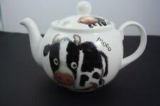 Roy Kirkham Please Shut the Gate Cow 6 cup teapot Bone China England Like New!