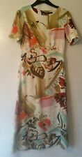 M&S Collection Painted Floral Print Swing DRESS SIZE UK 8 EUR 36 NEW!