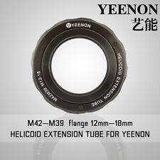 【YEENON】M42 to M39 x 12mm Focusing Helicoid Macro Extension Tube