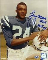 LENNY MOORE SIGNED 8X10 PHOTO SOP CERT JSA AUTOGRAPH AUTHENTIC