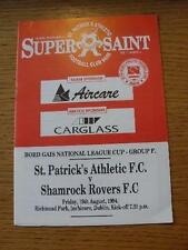 19/08/1994 St Patricks Athletic v Shamrock Rovers [Republic Of Ireland League Cu