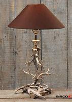 Lampe de table ramure métal abat-jour marron Lampadaire branche arbre chevet